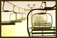 Empty ski lift at 7springs